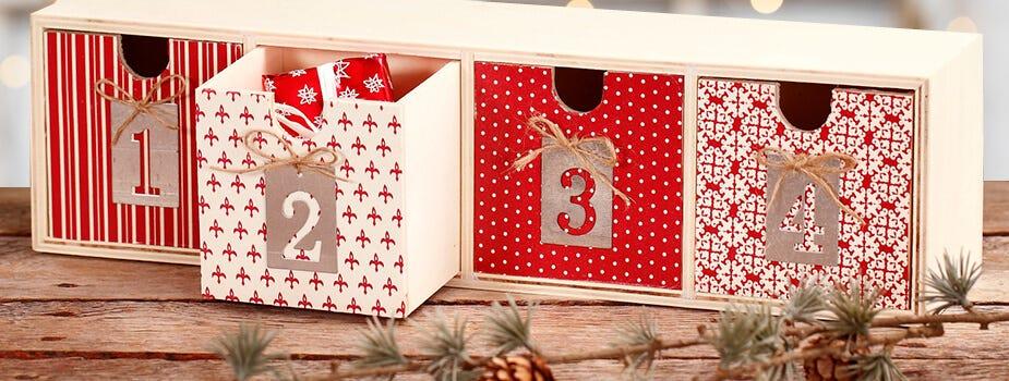 Decoupage-koristeita jouluksi