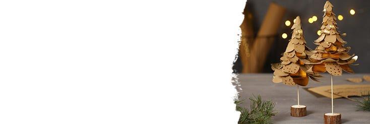 Joulukoristeita nahkapaperista