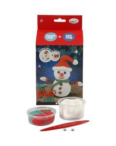 DIY-askartelupakkaus, lumiukko, 1 set