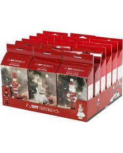 Pähkinänsärkijä, joulupukki ja ballerina, 18 set/ 1 pkk