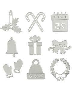 Kuvioterät, joulukuviot, halk. 2-6,5 cm, 1 kpl