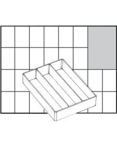 Säilytyslokero, nro A73 Low, Kork. 24 mm, koko 109x79 mm, 1 kpl