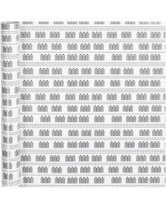 Lahjapaperi, kylpylä, Lev: 70 cm, 80 g, musta, valkoinen, 4 m/ 1 rll