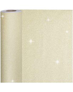 Lahjapaperi, Lev: 50 cm, 80 g, kulta, 100 m/ 1 rll