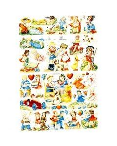 Kiiltokuvat, Lapset, 16,5x23,5 cm, 2 ark/ 1 pkk