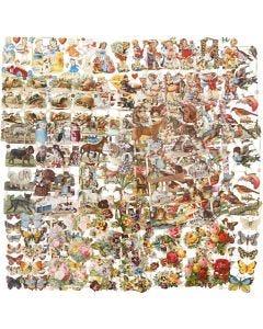 Kiiltokuvat, Lajitelma erilaisia ympärivuotisia aiheita, 16,5x23,5 cm, 30 laj/ 1 pkk