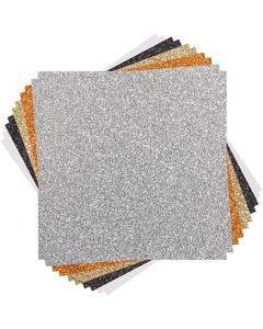 Cricut-kimallekartonkien lajitelma (klassikkosävyt), koko 30x30 cm, 10 ark/ 1 pkk