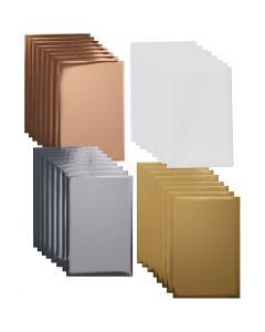 Cricut-siirtokalvoarkkien lajitelma, koko 10x15 , metallic-värit, 24 ark/ 1 pkk