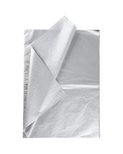Silkkipaperi, 50x70 cm, 14 g, hopea, 6 ark/ 1 pkk