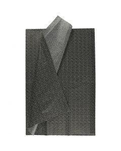 Silkkipaperi, 50x70 cm, 17 g, musta, 6 ark/ 1 pkk