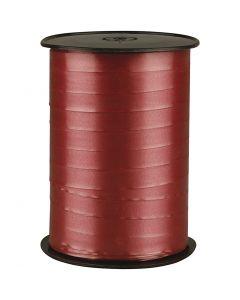 Lahjanauha, Lev: 10 mm, kiiltävä, rubiininpunainen, 250 m/ 1 rll