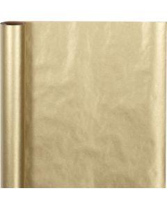 Lahjapaperi, Lev: 50 cm, 60 g, kulta, 5 m/ 1 rll
