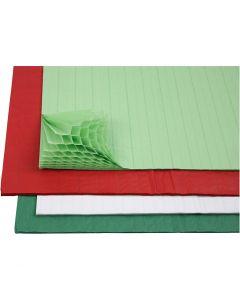 Kennopaperi, 28x17,8 cm, värilajitelma, 4x2 ark/ 1 pkk