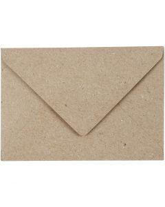Kirjekuoret, eko, kirjekuoren koko 7,8x11,5 cm, 120 g, beige, 50 kpl/ 1 pkk