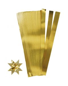 Paperisuikaleet, Pit. 73 cm, halk. 11,5 cm, Lev: 25 mm, kulta, 100 suikaleet/ 1 pkk