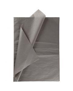 Silkkipaperi, 50x70 cm, 14 g, tummanharmaa, 25 ark/ 1 pkk
