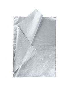 Silkkipaperi, 50x70 cm, 14 g, hopea, 25 ark/ 1 pkk