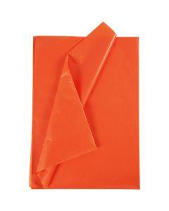 Silkkipaperi, 50x70 cm, 17 g, oranssi, 25 ark/ 1 pkk