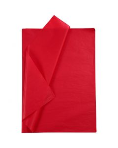 Silkkipaperi, 50x70 cm, 14 g, punainen, 25 ark/ 1 pkk