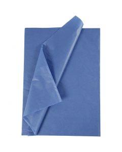 Silkkipaperi, 50x70 cm, 14 g, sininen, 25 ark/ 1 pkk