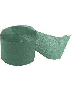 Kreppipaperirulla, Pit. 20 m, Lev: 5 cm, vihreä, 20 rll/ 1 pkk