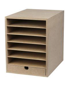 Kartonkihylly, Kork. 31,5 cm, syvyys 32 cm, Lev: 24,3 cm, A4, 1 kpl