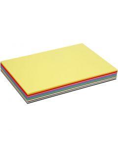 Värillinen kartonki, A3, 297x420 mm, 180 g, värilajitelma, 300 laj/ 1 pkk