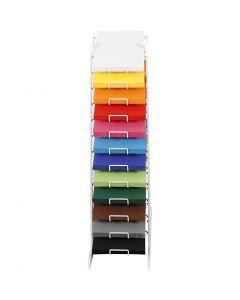 Värillinen kartonki, Kork. 900 mm, A4, 210x297 mm, värilajitelma, 12x100 ark/ 1 pkk