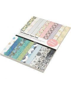 Käsintehty paperilehtiö, A4, 210x297 mm, 110 g, 20 ark/ 1 pkk