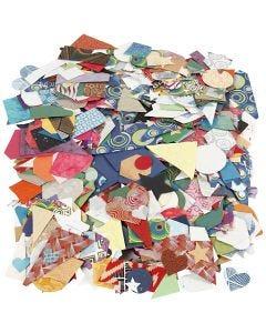 Käsintehdyt paperikuviot, koko 25-130 mm, 110 g, 500 g/ 1 pkk