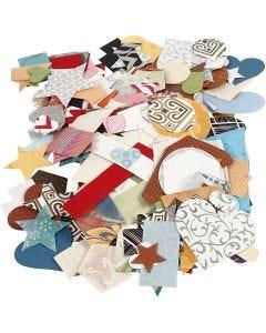 Käsintehdyt paperikuviot, koko 25-130 mm, 110 g, 100 g/ 1 pkk