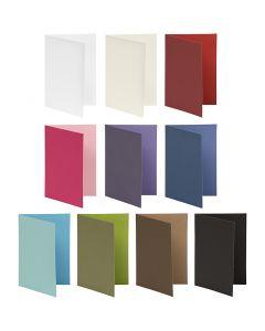Korttipohja, kortin koko 10,5x15 cm, Lajitelman sisältö voi vaihdella , 250 g, värilajitelma, 30 pkk/ 1 pkk