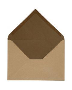 Kirjekuori, kirjekuoren koko 11,5x16 cm, 100 g, hiekka/ruskea, 10 kpl/ 1 pkk