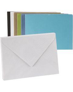 Kirjekuori, kirjekuoren koko 11,5x16 cm, Lajitelman sisältö voi vaihdella , 100 g, 100 kpl/ 1 pkk