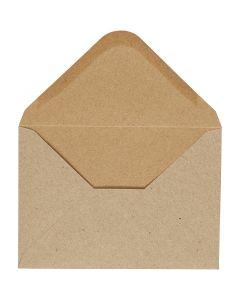 Kirjekuori, kirjekuoren koko 11,5x16 cm, 110 g, luonnonrusk., 10 kpl/ 1 pkk