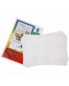 Ompelukartonki, 3x3 reikää/cm , 300 g, valkoinen, 10 ark/ 1 pkk