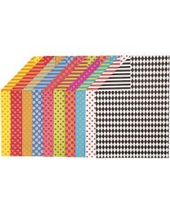 Kuviokartonki, A4, 210x297 mm, 250 g, värilajitelma, 20 laj/ 1 pkk