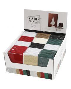 Korttipohjat ja kirjekuoret, kortin koko 10,5x15 cm, kirjekuoren koko 11,5x16,5 cm, 12x10 pkk/ 1 pkk