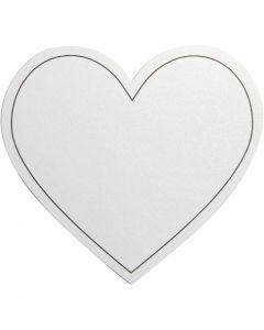 Sydän, koko 75x69 mm, 120 g, valkoinen, 10 kpl/ 1 pkk