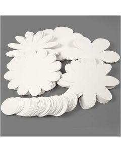 Kukat, halk. 20 cm, 400 g, valkoinen, 5x20 kpl/ 1 pkk