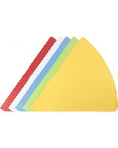 Kartiot, Kork. 68 cm, halk. 20 cm, värilajitelma, 5 kpl/ 1 pkk