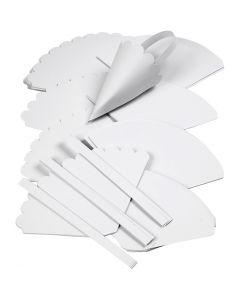 Kartiot, Kork. 13 cm, halk. 8 cm, valkoinen, 240 kpl/ 1 pkk