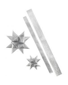 Paperisuikaleet, Pit. 86+100 cm, halk. 11,5+18,5 cm, Lev: 25+40 mm, kimallehopea, 16 suikaleet/ 1 pkk