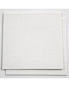 3D-tarratyynyt, koko 5x5 mm, paksuus 1 mm, valkoinen, 2 ark/ 1 pkk