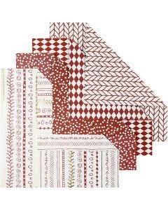 Origamipaperi, koko 15x15 cm, 80 g, punainen, 40 ark/ 1 pkk