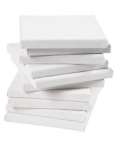 Taulupohjat, koko 15x15 cm, 280 g, valkoinen, 80 kpl/ 1 pkk