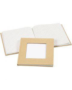 Muistikirja, koko 14x14 cm, 60 g, ruskea, 1 kpl