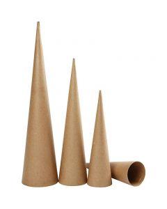 Pahvikartiot, Kork. 30-40-50 cm, halk. 8-9-11,5 cm, 3 kpl/ 1 pkk