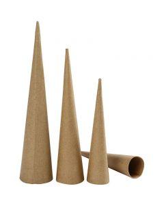 Pahvikartiot, Kork. 20-25-30 cm, halk. 4-5-6 cm, 3 kpl/ 1 pkk