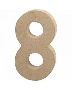 Numero, 8, Kork. 20,2 cm, Lev: 11 cm, paksuus 2,5 cm, 1 kpl